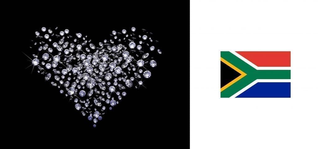 Diamond Heart with South African flag Jack Friedman