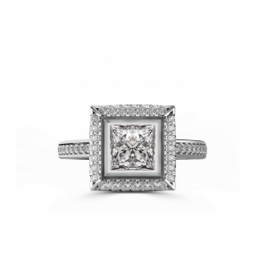 square top halo ring