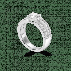 Broad Band Dancing light Engagement Ring