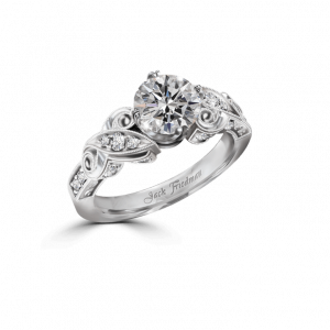 Leaf Edwardian Engagement Ring