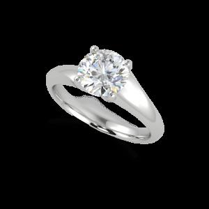 Wedding ring - Round Scarlett side