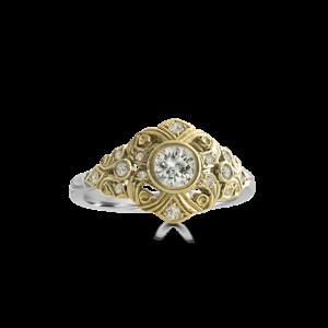 edwardian ring yellow