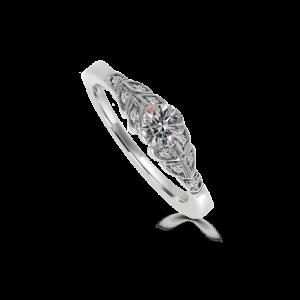 leaf edwardian ring-engagement-ring