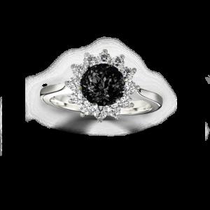 galaxy ring black diamond