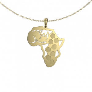 Rhino Footprint Map - Pendant