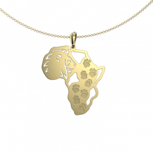lion footprint map - Pendant