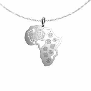 leopard footprint map - Pendant