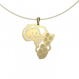 elephant footprint map - Pendant