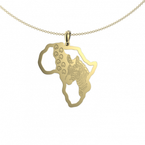 zebra footprint map - Pendant
