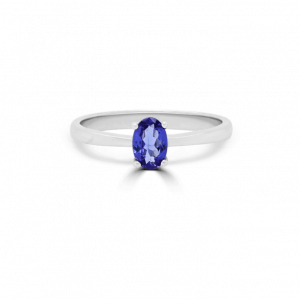 Oval Tanzanite Solitaire Ring