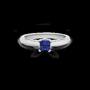 Princess Tanzanite Solitaire Ring