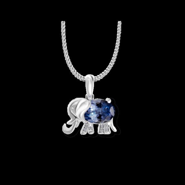 Tanzanite elephant pendant