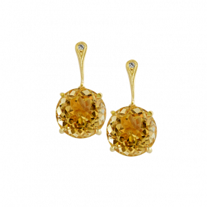 holi citrine earrings yellow