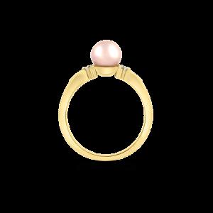 Akoya Cultured Pearl & Diamond Ring