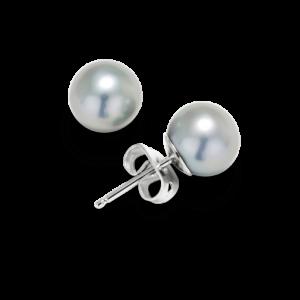 Grey Pearl Stud Earrings