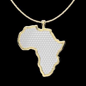 Mali - large diamond map of africa