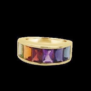Broad Rainbow Ring Rainbow Collection