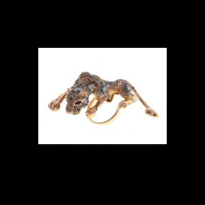 sprinting leopard diamond ring