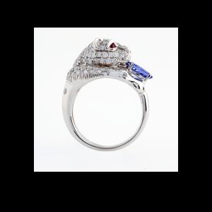 tanzanite and diamond leopard ring