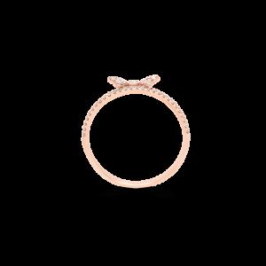 Diamond Bow Stack Ring