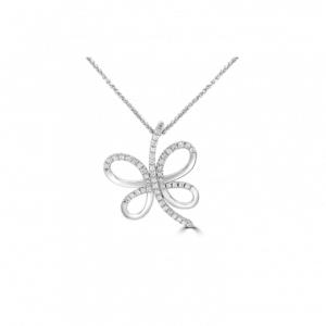 Diamond Flutter Branch Pendant