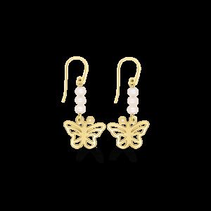 Pearl & Butterfly Earrings