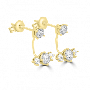 Double Level Diamond Earrings