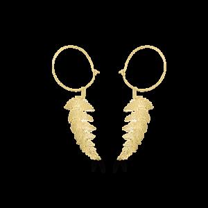 Fern Leaf Hoop Earrings
