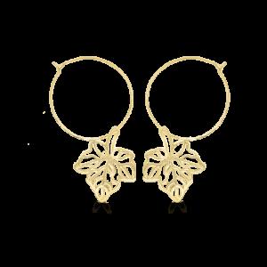 Maple Leaf Hoop Earrings