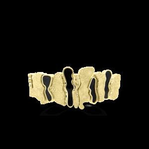 Gold & Black Onyx African Bracelet/Chocker-pendants