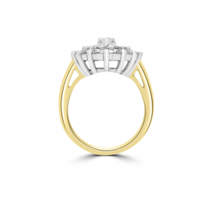 Marquise Cluster Angel Diamond Ring-Diamond Jewellery