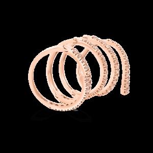 Cognac Diamond Twirl Ring-Diamond Jewellery