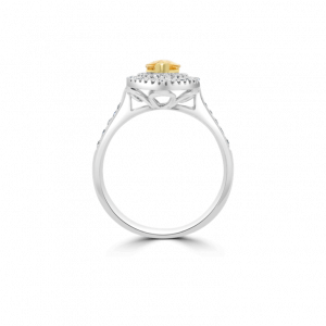 Marquise Yellow Beryl & Diamond Fancy Ring-Gemstone Jewellery