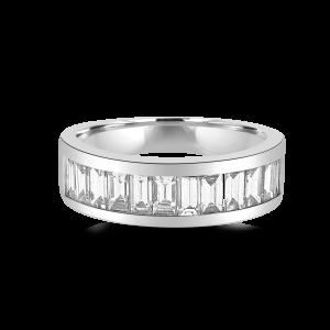 Baguette Channel Diamond Ring-Diamond Wedding Bands