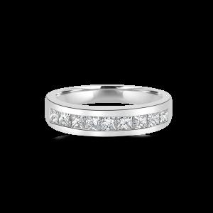 Square Diamond Channel Eternity Band-Diamond wedding bands
