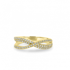 Twist Infinity Diamond Ring-Diamond Jewellery