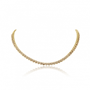 Cognac Diamond Tennis Chocker-Diamond Jewellery