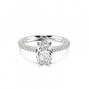 Oval Instinct Pave Engagement Ring-Instinct Collections
