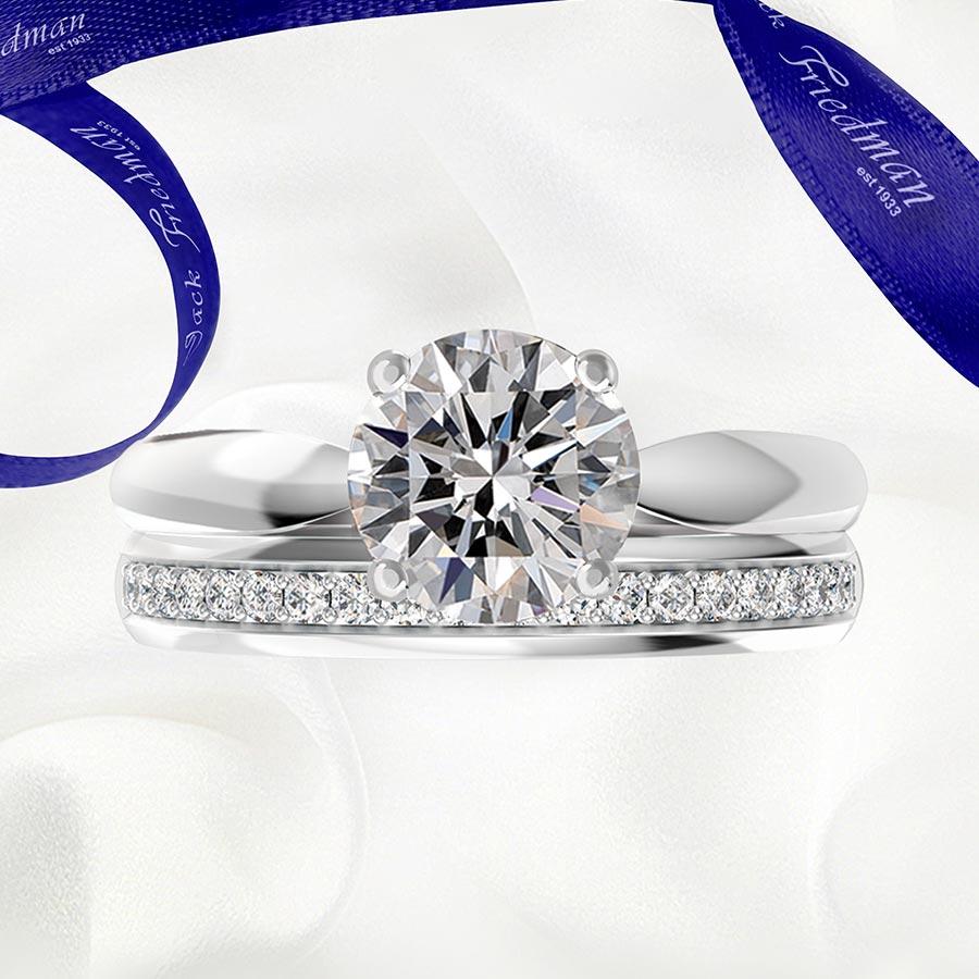 jack friedman the kay diamond engagement ring