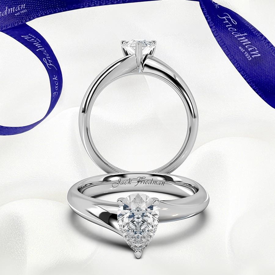Pear Diamond Scarlett Engagement Ring